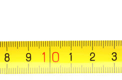 Measuring Tape Fragment Royalty Free Stock Image