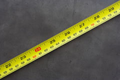 Measuring tape. 24 inch in red Stock Photography