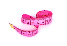 Measuring tape isolate on a white Stock Photography