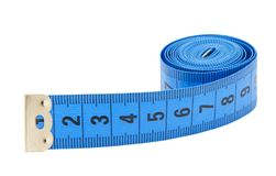 Measuring tape isolated. Over white background Stock Photo