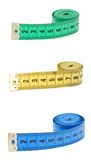 Measuring tape isolated over white background. Measuring tape isolated over white background Stock Images