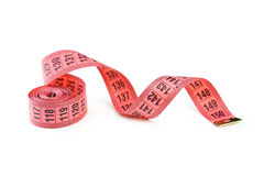 Measuring tape. Isolated on white Stock Photo