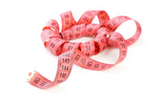 Measuring tape. Isolated on white Stock Photos