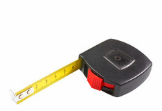 Measuring tape. Isolated on a white background stock image