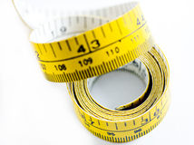 Measuring Tape. Isolated on white background Royalty Free Stock Images