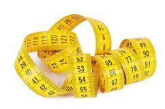 Measuring tape isolated on white background Royalty Free Stock Image