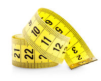 Measuring tape. Isolated on white background. Clipping Path Stock Image