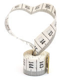 Measuring Tape Looking As Heart Stock Photography