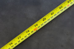 Measuring tape 2m. Measuring tape showing 2m and 79 inches Stock Images