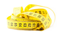 Measuring with tape measure Stock Photo