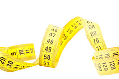 Measuring with tape measure Royalty Free Stock Images
