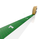 Giant tape measure. Tape measure using Football Fields as a standard unit for measuring large things Stock Photography