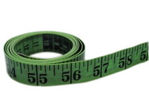 Measuring tape. Or a tape measure on a white background Stock Images