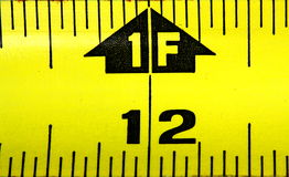 Measuring  Tape One Foot Royalty Free Stock Photography