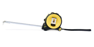 Measuring tape over isolated white background Stock Image