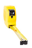 Measuring tape is photographed close up Royalty Free Stock Image