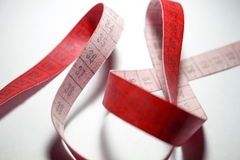 Measuring tape. Red color Royalty Free Stock Image