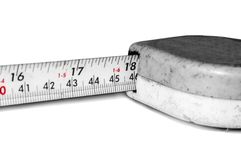 Measuring tape with red signs Stock Images