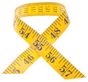 Measuring Tape in Ribbon Shape Royalty Free Stock Image