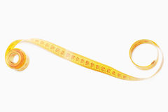 Measuring tape with rolled ends Stock Images