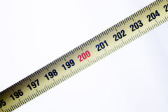 Measuring tape ruler cm numbers Stock Photography