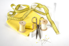 Measuring tape and sewing accessories Stock Photography