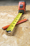 Measuring tape shallow depth of field Royalty Free Stock Image