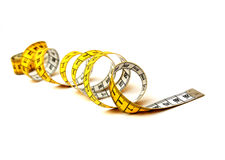 Measuring tape spiral Stock Photo