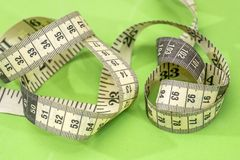 Measuring tape of the tailor isolated Stock Image