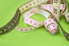 Measuring tape of the tailor isolated Royalty Free Stock Photos
