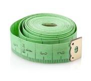 Measuring tape tailor tool. Measuring tape tailor on white background Stock Photos