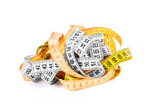 Measuring tape of the tailor for you design Stock Image
