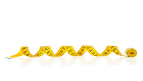 Measuring tape of the tailor for you design Stock Images
