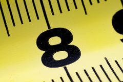 Measuring tape close-up, macro royalty free stock photo