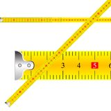 Measuring tape vector. Against white background, abstract art illustration Royalty Free Stock Photos