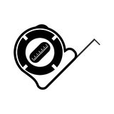Measuring tape vector icon. roulette construction Royalty Free Stock Photos