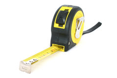 Measuring tape on white Stock Images