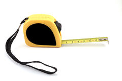 Measuring tape. On white background Royalty Free Stock Image