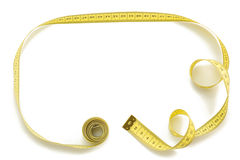 Measuring tape on white background Stock Photography
