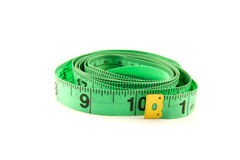Measuring tape on white background Royalty Free Stock Images