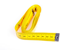 Measuring tape  on white background Stock Images