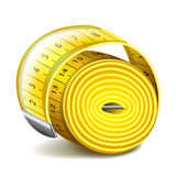 Measuring tape  on white vector Stock Images