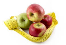 Measuring Tape Wrapped Around Apples Royalty Free Stock Photo