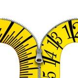 Measuring Tape Zippermeasuring tape zipper Stock Images