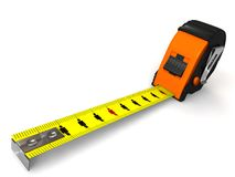 Measuring tapes. Measuring tape- people concept, with clipping paths Royalty Free Stock Photo