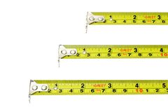 Measuring tapes background Royalty Free Stock Images