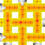Measuring tapes mesh. Against white background, abstract vector art illustration Royalty Free Stock Images