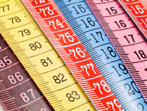 Measuring Tapes. Shot from above Royalty Free Stock Photo