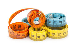 Measuring tapes Stock Photo