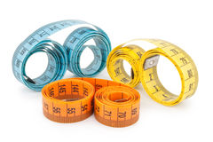 Measuring tapes Stock Image